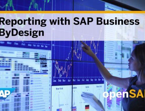 Reporting mit SAP Business ByDesign – Kostenloser Online-Kurs auf openSAP