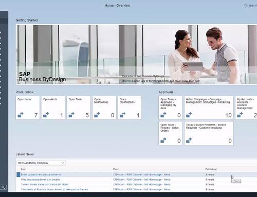 Die neue HTML5-basierte Benutzeroberfläche von SAP Business ByDesign – Was ist neu?
