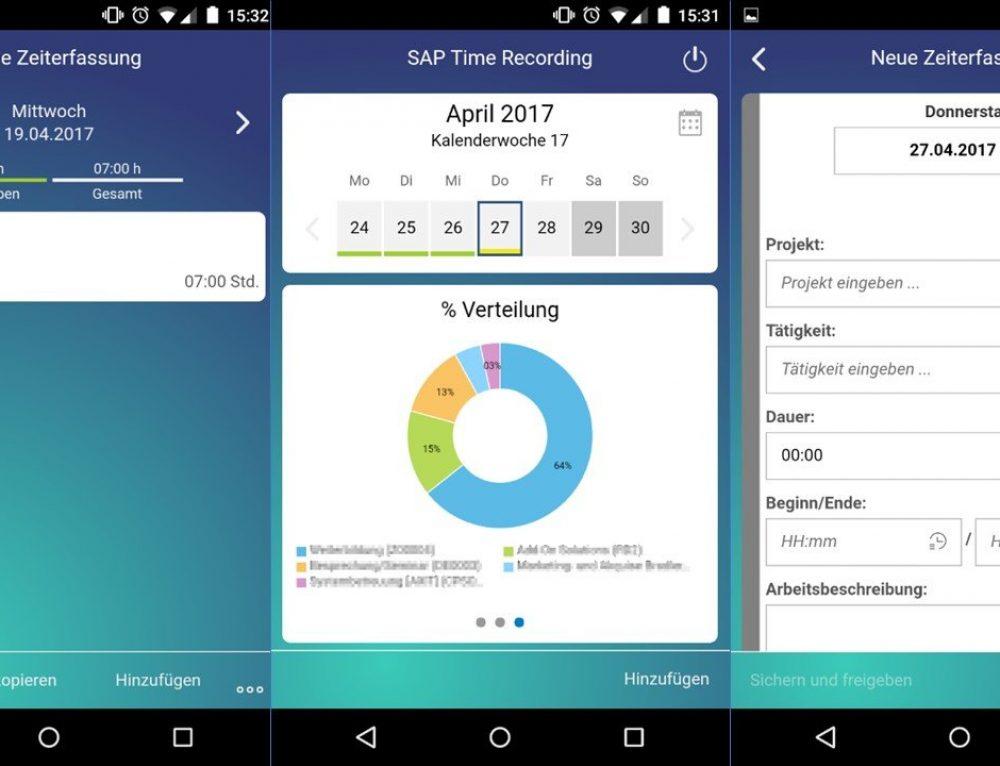 Die neue SAP Time Recording App von SAP Business ByDesign für iOS und Android
