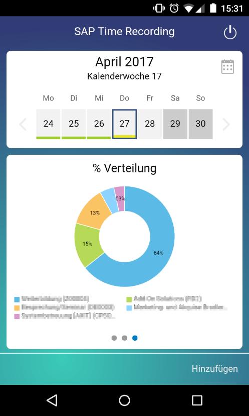 Die neue SAP Time Recording App von SAP Business ByDesign