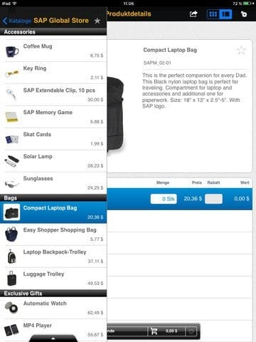 SAP Business ByDesign Active Sales App Bild 2