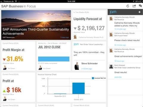 SAP Business in Focus App Bild 2