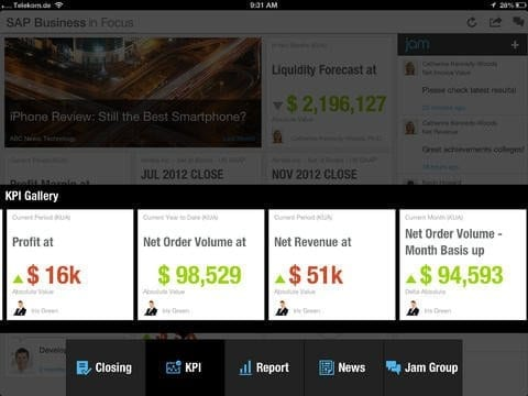 SAP Business in Focus App Bild 5