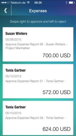 SAP Manager Approvals App Bild 3