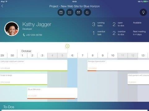 SAP Project Cockpit App Bild 4