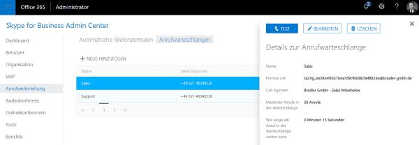 Skype for Business Admin Center