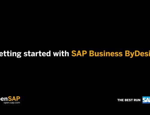 Erste Schritte mit SAP Business ByDesign – Kostenloser Online-Kurs auf openSAP