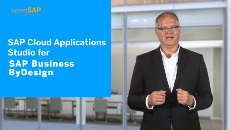 SAP Cloud Applications Studio for SAP Business ByDesign