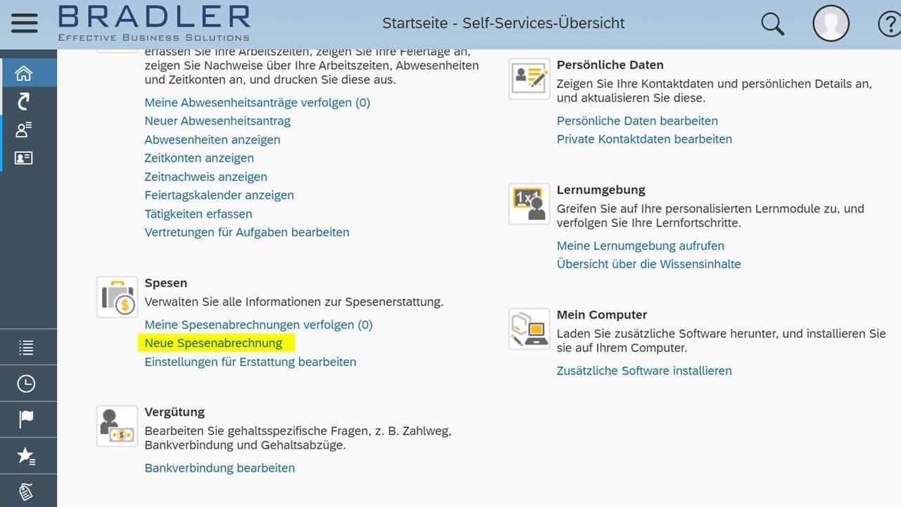 Reiseantrag mit Spesenabrechnung in SAP Business ByDesign